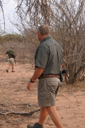 Christopher Sussens, Tshukudu Game Reserve, bush walk, Afrique du Sud