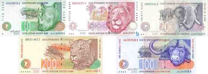 rands, Big Five, South Africa