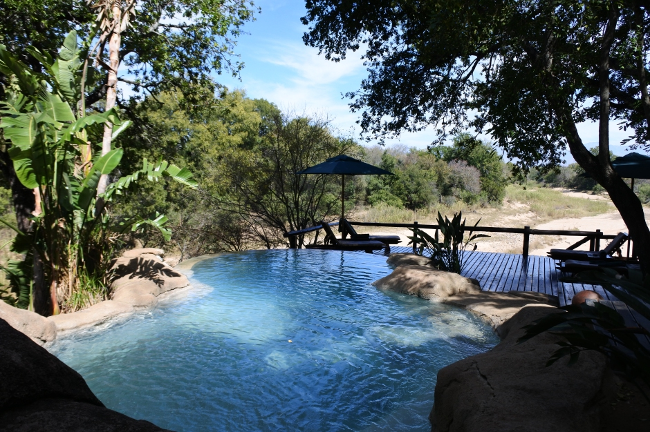 swimming pool, Kuname River Lodge, Karongwe Game Reserve, Limpopo