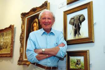 David Shepherd, painter, artist, conservationist, wildlife, DSWF