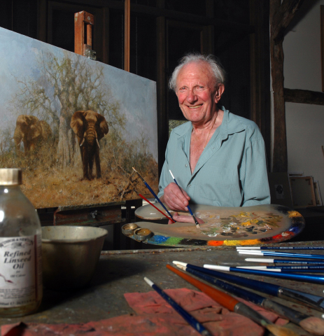David Shepherd, artist, painting, wildlife, conservation