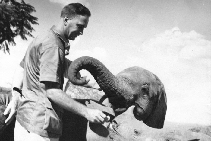 David Sheldrick, DSWT, elephant and rhino orphans, Eleanor, Rufus, Kenya, Tsavo