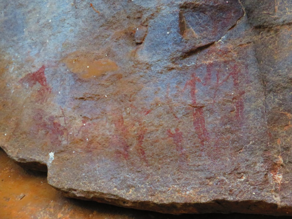 San paintings, rock art, archaeological site, Leshiba Wilderness, South Africa