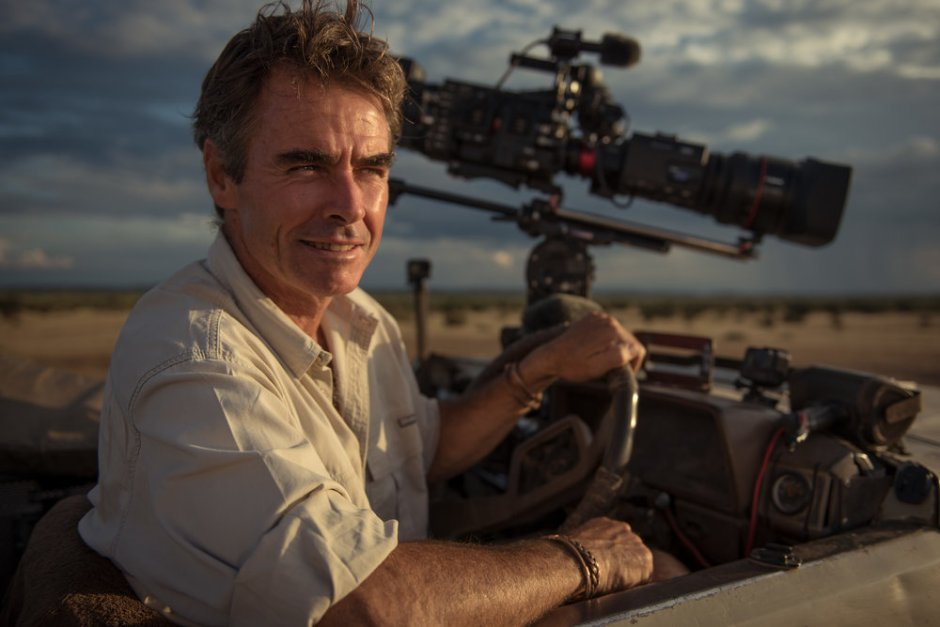 Photo by Harrison Cooney, Kim Wolhuter portrait, wildlife photographer and filmaker, Mashatu, Botswana