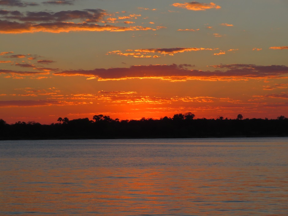 sunset, Zambezi river, sunset cruise, Zimbabwe