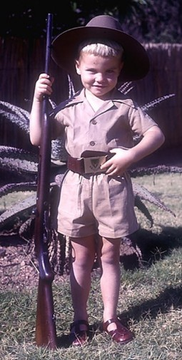 young Kim Wolhuter, ranger, Kruger National Park, South Africa