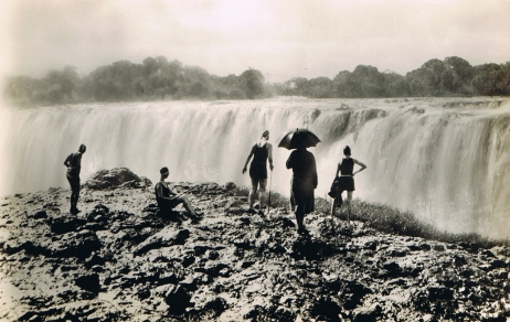 Victoria Falls, women, tourists