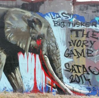 Pavel Cisarovsky, Satao, Big Tusker, poaching, street art, Czech Republic, Prague