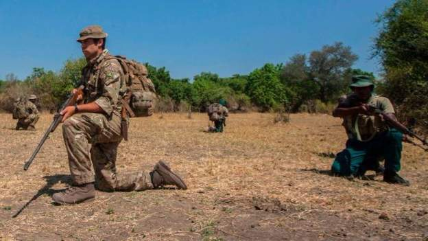 Malawi, British soldiers, rangers, antipoaching trainning