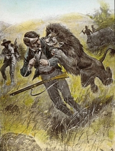 David Livingstone, Africa, lion attack, Mabotswa