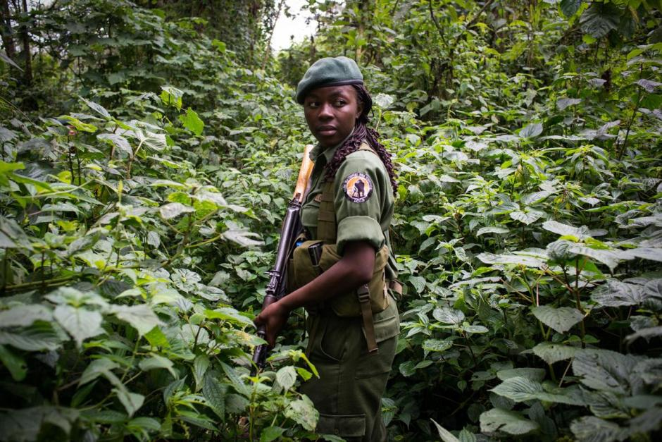 woman, female ranger, Virunga National Park, Malilisa, DCR