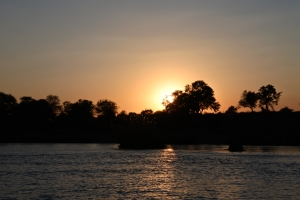 sunset cruise, Kaisosi River Lodge, Okavango, Namibia