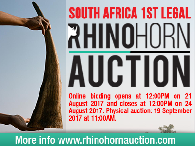 John Hume, horn farming, rhino horn auction, South Africa
